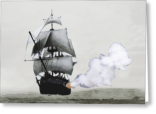 Pirate Ships Greeting Cards - The Old Pirate Greeting Card by Tyler Martin