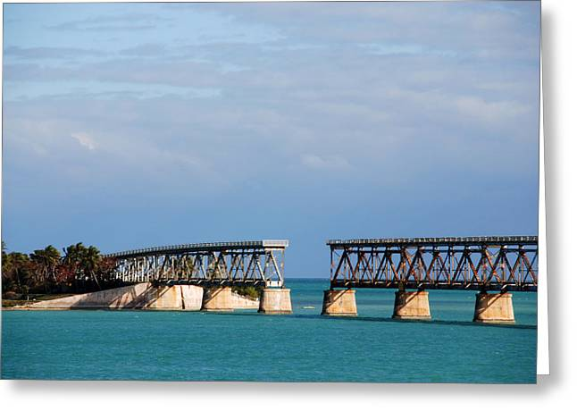 Flagler Greeting Cards - The Old Railroad to the Keys Greeting Card by Susanne Van Hulst