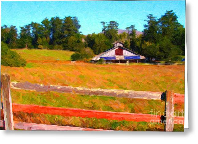 High Noon Greeting Cards - The Old Ranch at Midday Greeting Card by Wingsdomain Art and Photography