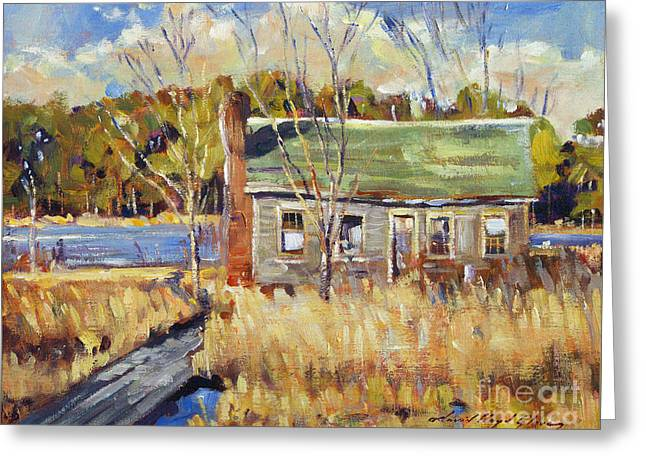 Shack Greeting Cards - The Old Relic - plein air Greeting Card by David Lloyd Glover