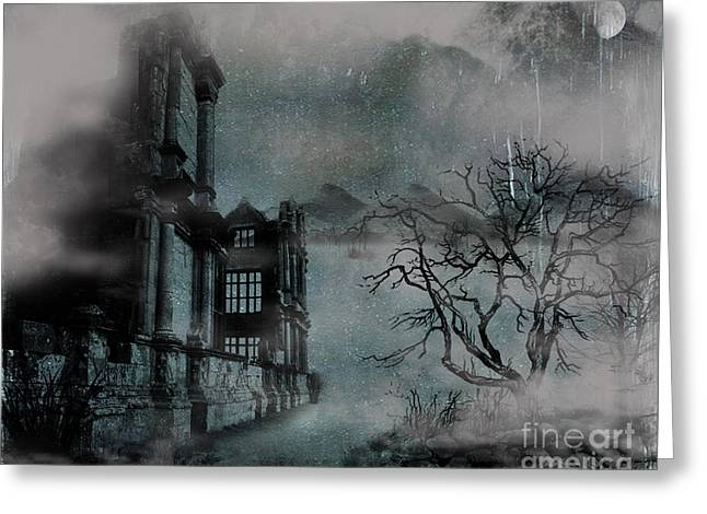 The Old Ruins Greeting Card by Cheryl Young