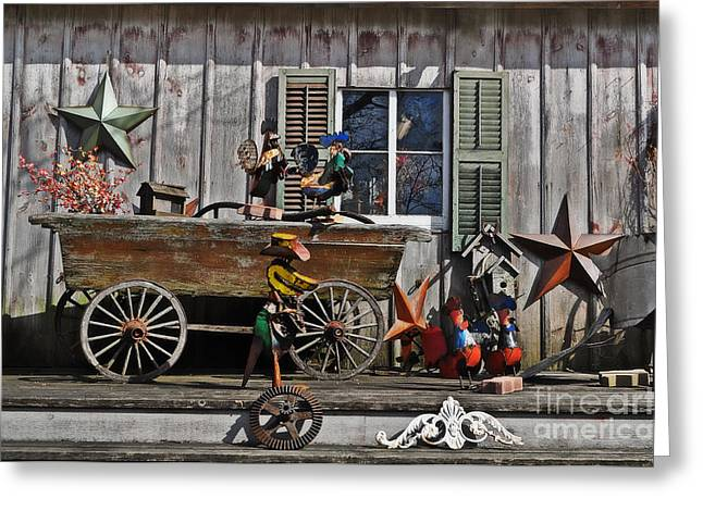 Cedar Creek Greeting Cards - The Old Shed Greeting Card by Mary Machare