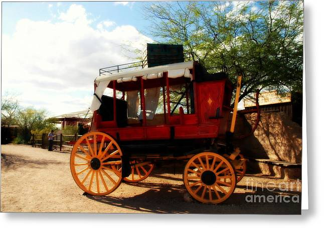 Old Tv Photographs Greeting Cards - The Old Stage Coach Greeting Card by Susanne Van Hulst