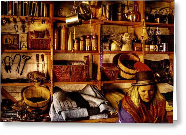 Stockade Greeting Cards - The Old Store at Fort Nisqually Greeting Card by David Patterson
