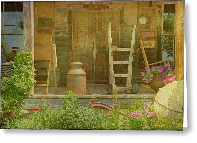 The Old Store Porch Greeting Card by Jan Amiss Photography