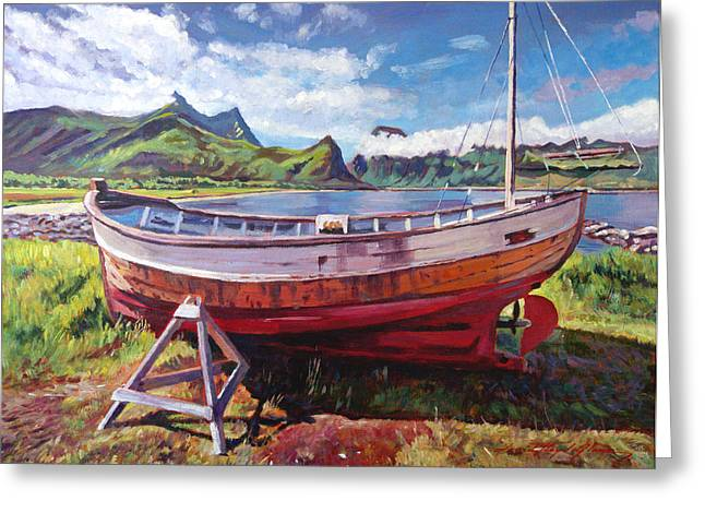 Most Paintings Greeting Cards - The Old Timer Greeting Card by David Lloyd Glover