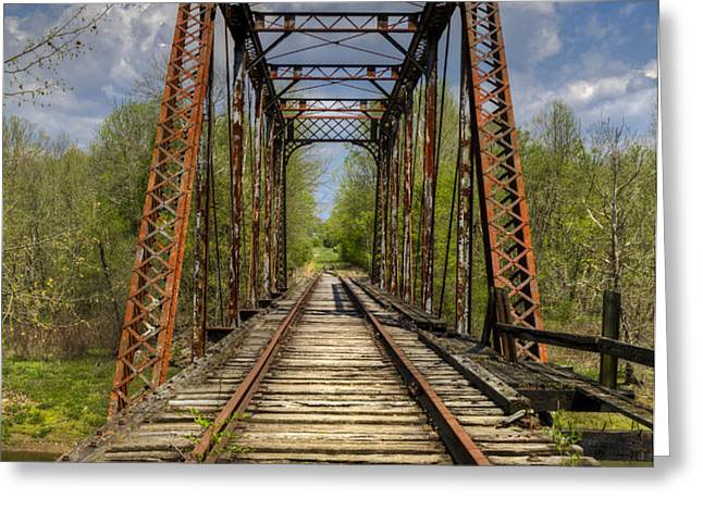 The Old Trestle Greeting Card by Debra and Dave Vanderlaan