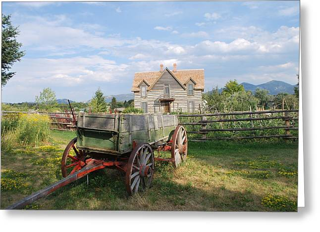 Wooden Wagons Greeting Cards - The Old Wagon Greeting Card by Dorota Nowak