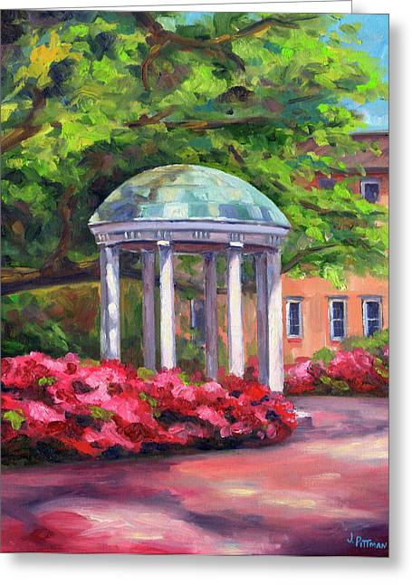 University Of Arizona Greeting Cards - The Old Well UNC Greeting Card by Jeff Pittman