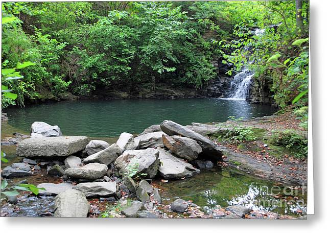 Canoe Waterfall Photographs Greeting Cards - The Ole Swimming Hole Greeting Card by Jost Houk