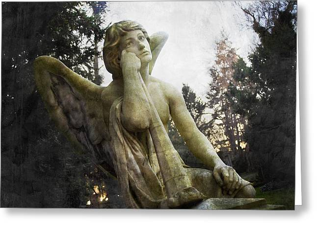 Christian Mythology Greeting Cards - The One Angel Greeting Card by Marc Huebner