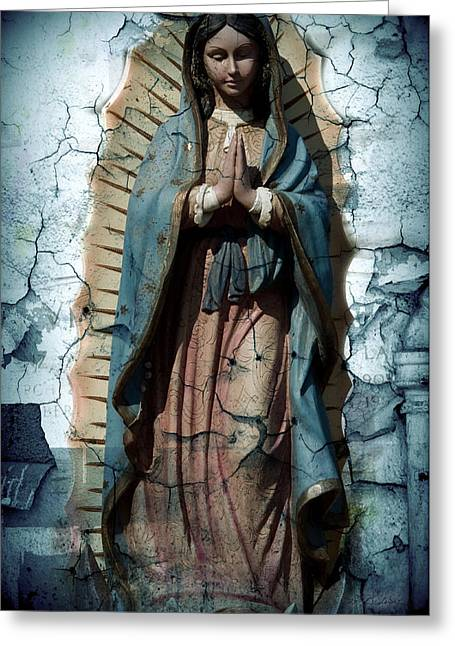 Our Lady Of Guadalupe Greeting Cards - The One Who Crushes The Serpent  Greeting Card by Melissa Wyatt