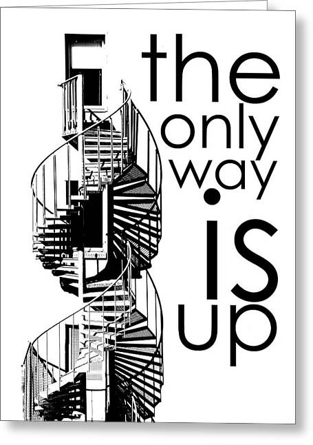The Only Way Is Up Greeting Card by Per Lidvall