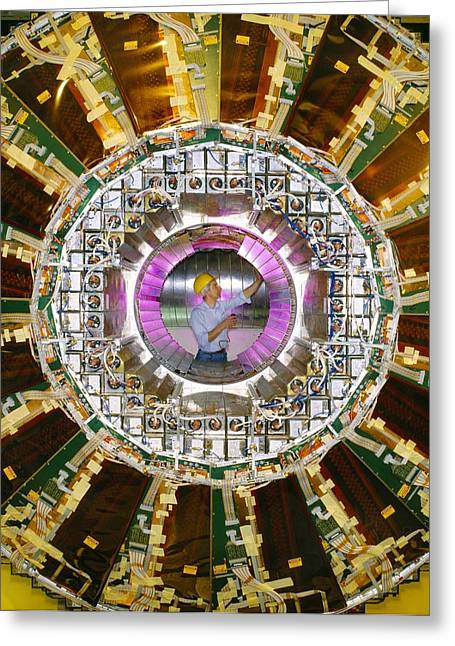 Cern Greeting Cards - The Opal Detector At Cern Greeting Card by David Parker