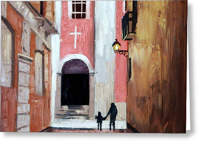 The Open Door Greeting Card by Anthony Falbo