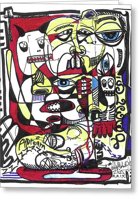 Raw Drawings Greeting Cards - The Operation Greeting Card by Robert Wolverton Jr