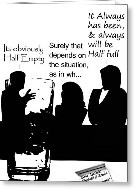 Conversations Mixed Media Greeting Cards - The Opportunist Greeting Card by The DigArtisT