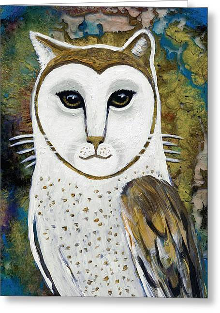 The Owl And The Pussycat Greeting Cards - The Oracle Greeting Card by EJ Lefavour