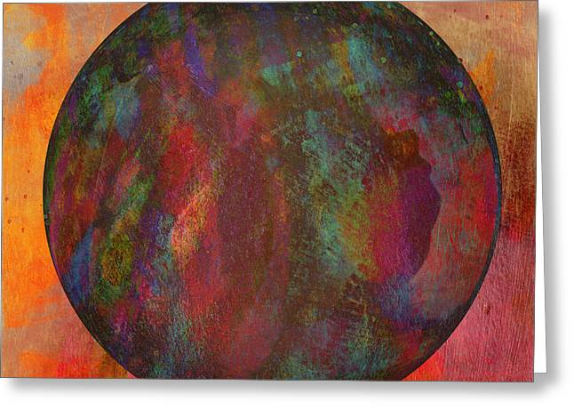 Violet Art Mixed Media Greeting Cards - The Orb Greeting Card by David Gordon