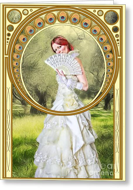 Orchard Digital Art Greeting Cards - The Orchard Greeting Card by John Edwards