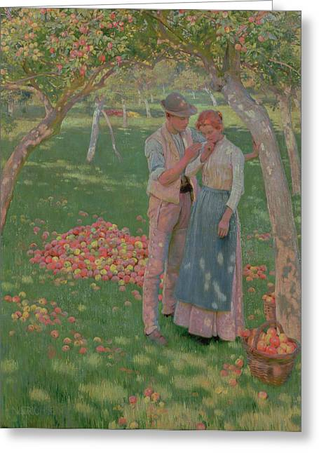Sweetheart Greeting Cards - The Orchard Greeting Card by Nelly Erichsen