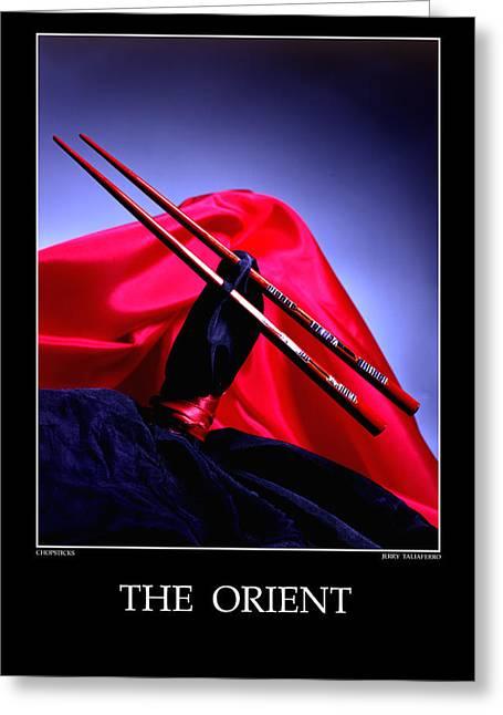 Taliaferro Greeting Cards - The Orient - Chopstick Greeting Card by Jerry Taliaferro