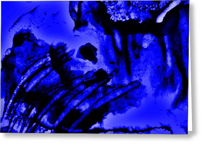 The Origins Of Blue Greeting Card by Rory Sagner