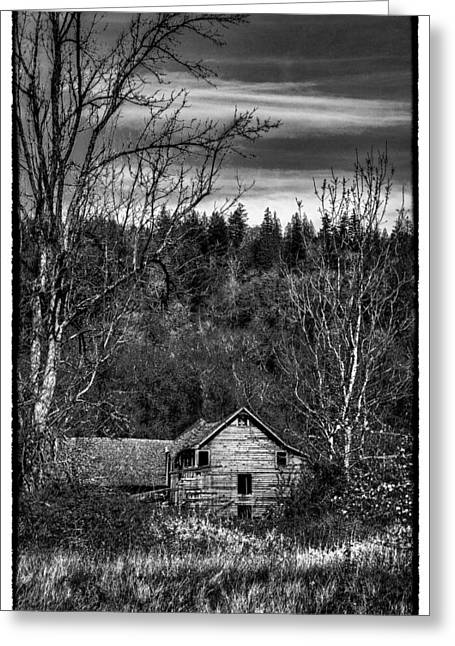 Outbuildings Greeting Cards - The Orting Barn Greeting Card by David Patterson