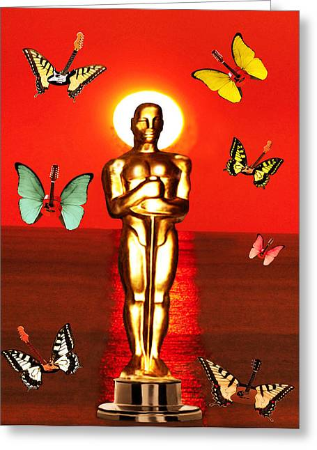 Theatre World Award Greeting Cards - The Oscars  Greeting Card by Eric Kempson