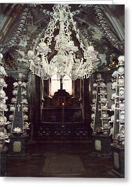 Bone Pile Greeting Cards - The Ossuary at Sedlec 1 Greeting Card by Richard Reeve