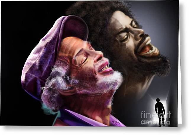 The Other Side-gil Scott Finally Going Home Greeting Card by Reggie Duffie