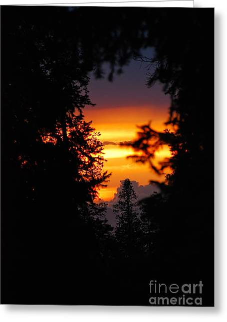 Rare Sunset Greeting Cards - The Other Side Greeting Card by Syed Aqueel