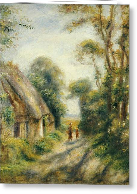People. Talking Greeting Cards - The Outskirts of Berneval  Greeting Card by Pierre Auguste Renoir