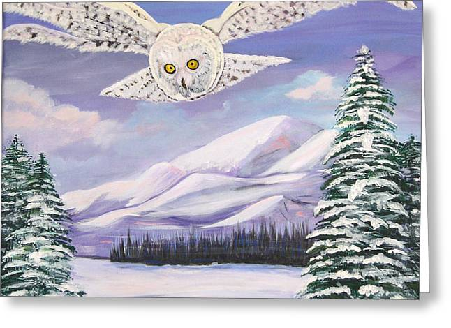 The Owl and the Rat Greeting Card by Phyllis Kaltenbach