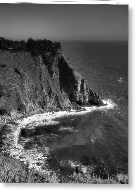 Pacific Ocean Prints Greeting Cards - The Pacific At Ragged Point Greeting Card by Steven Ainsworth