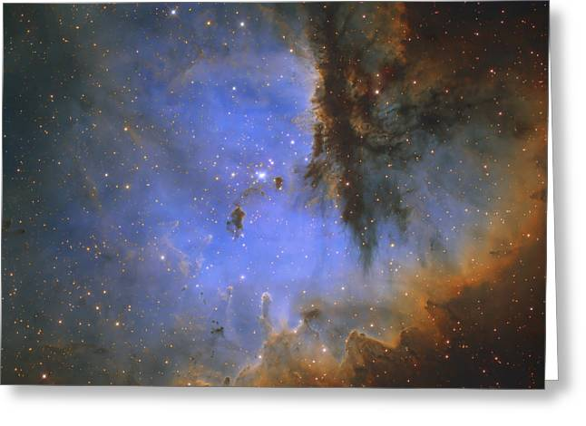 The Pacman Nebula Greeting Card by Ken Crawford