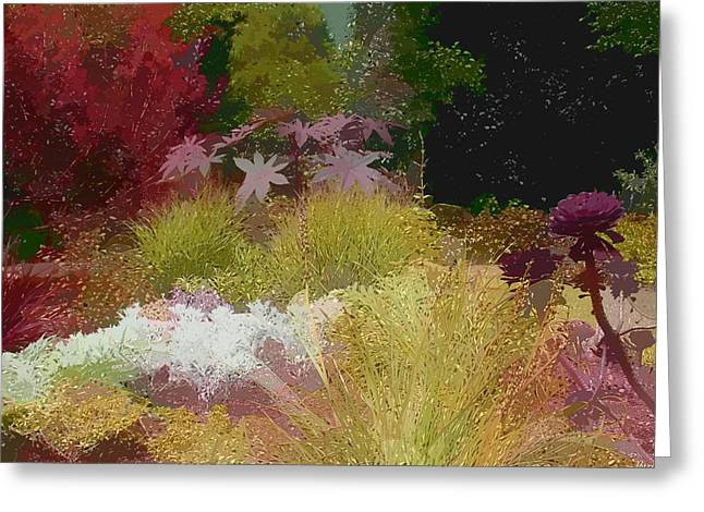 Paint Effect Greeting Cards - The Painted Garden Greeting Card by Tom Prendergast