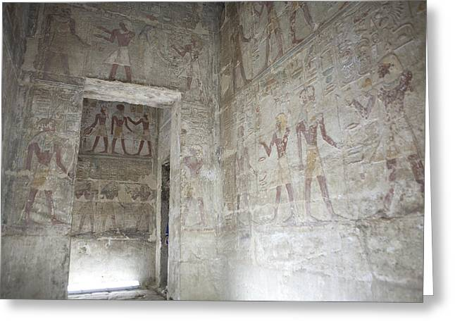 The Painted Walls Of The Ancient Temple Greeting Card by Taylor S. Kennedy