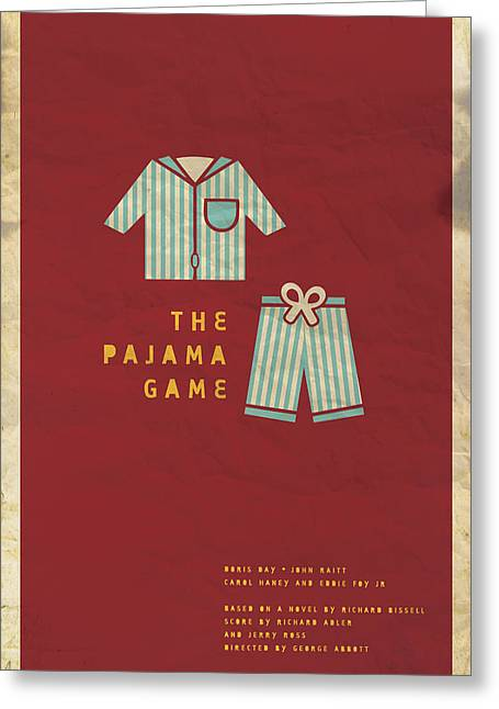 Home Theatre Greeting Cards - The Pajama Game Greeting Card by Megan Romo