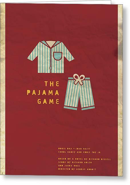 The Pajama Game Greeting Card by Megan Romo