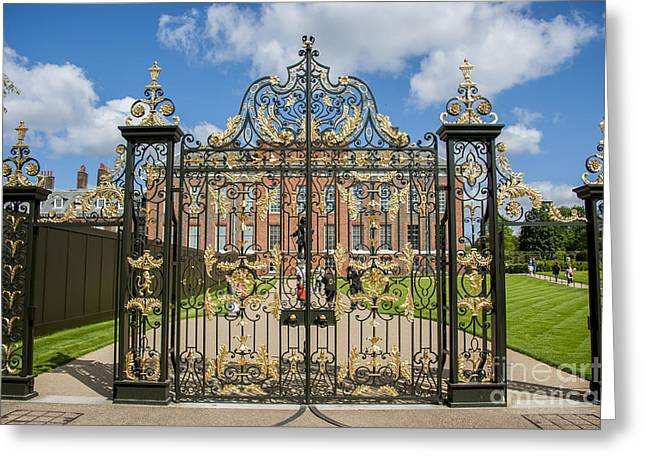 Kensington Greeting Cards - The Palace Gates Greeting Card by Donald Davis