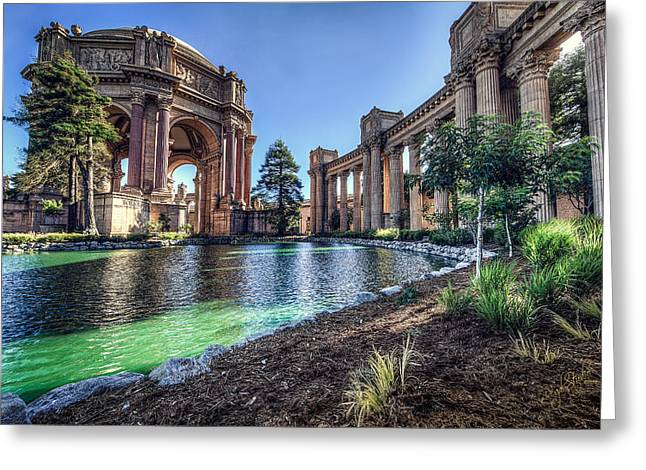 Palaces Greeting Cards - The Palace of Fine Arts Greeting Card by Everet Regal