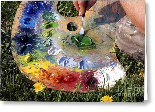 Pallet Knife Photographs Greeting Cards - The Pallet Greeting Card by Erik Falkensteen