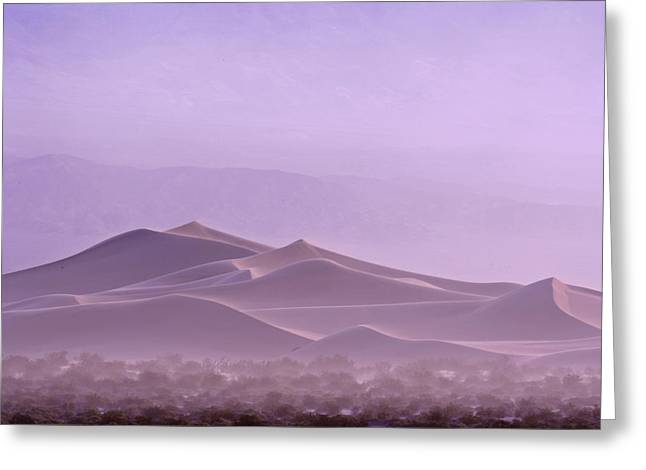 Panamint Valley Greeting Cards - The Panamint Range Looms Greeting Card by Michael Melford