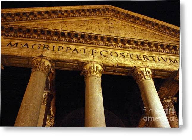 The Pantheon At Night Greeting Card by Kent Nickell