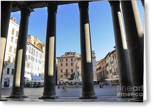 Pantheon Greeting Cards - The Pantheon . Piazza Della Rotonda. Rome Greeting Card by Bernard Jaubert