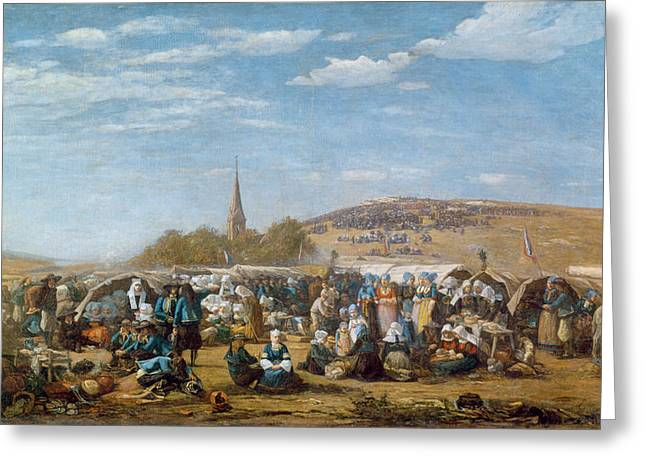Processions Greeting Cards - The Pardon of Sainte Anne La Palud Greeting Card by Eugene Louis Boudin