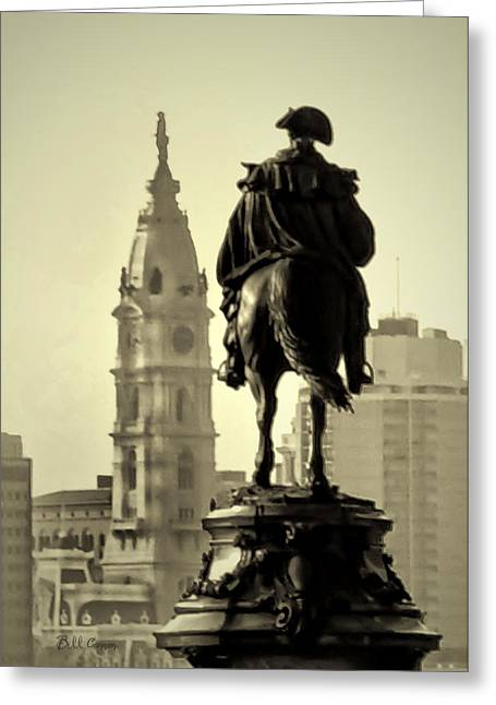 Benjamin Franklin Parkway Greeting Cards - The Parkway End to End Greeting Card by Bill Cannon