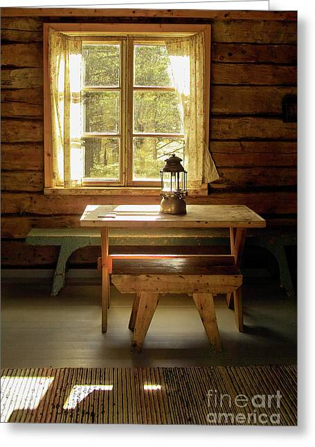 Log Cabin Interiors Greeting Cards - The Parlour Greeting Card by Heiko Koehrer-Wagner