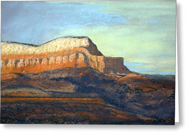 Southern Utah Pastels Greeting Cards - The Parthenon Greeting Card by Carl Capps